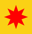 flat style retro star icon vector image vector image