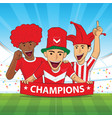 football supporter red shirt vector image