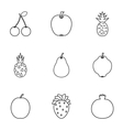 Fruit icons set outline style vector image vector image