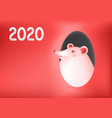 funny mouse or rat symbol new year greeting vector image vector image