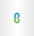 green blue logo b letter b logotype icon vector image vector image