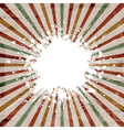 grunge starburst background vector image vector image