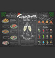 Holiday christmas menu design with champagne