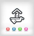 hotel icon privacy concept vector image vector image