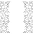 hydrangea flower outline border vector image