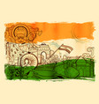 india background showing its incredible culture vector image