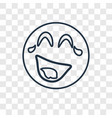 laughing concept linear icon isolated on vector image