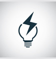 light bulb energy icon for web and ui on white vector image vector image