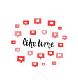 like time lettering for social media and blogging vector image vector image