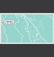 lobamba swaziland city map in retro style outline vector image vector image