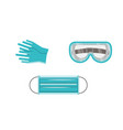 medical equipment and protection vector image vector image