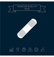 medical plaster adhesive bandage icon vector image
