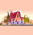 old house decrepit residential suburban cottage vector image vector image