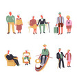 old people fun leisure and sport activity vector image vector image