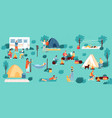 outdoor camping adventure travel hiking and vector image vector image
