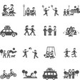 Outing Icons Set vector image vector image