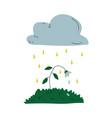 plant dying under acid rain global ecological