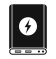 power bank icon simple style vector image vector image