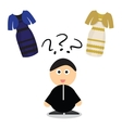 Puzzle what color of dress white and gold or vector image vector image