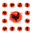 rooster logo cock cute cartoon vector image vector image