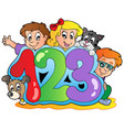 school theme with numbers vector image vector image