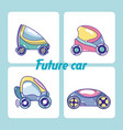 set of future cars vector image