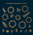 set of hand drawn decorative elements vector image vector image