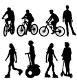 Set silhouette of a cyclist vector image vector image