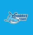 shark mascot logo vector image vector image