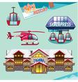 Ski resort set vector image