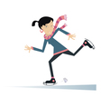 Smiling young woman a skater vector image