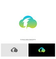 storm cloud logo design concept thunder cloud vector image