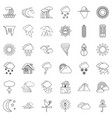 thermometer icons set outline style vector image vector image