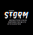 thunder storm font vector image vector image