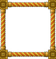 Traditional wooden frame vector image vector image