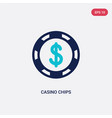two color casino chips icon from cryptocurrency vector image vector image
