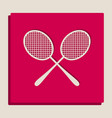two tennis racket sign grayscale version vector image vector image