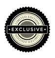 vintage badge premium design element limited vector image vector image