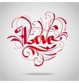 Vintage lettering Love vector image