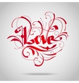 Vintage lettering Love vector image vector image