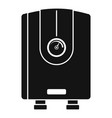 water boiler icon simple style vector image vector image