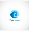 water wave curl logo vector image