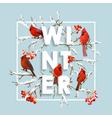 Winter Christmas Design in Winter Birds vector image vector image
