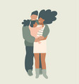 young african american family parents holding vector image
