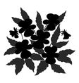 flowers pansies contour vector image