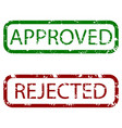 approved and rejected stamp texture colored vector image
