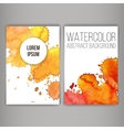 Design brochure or business card with stains vector image