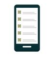 Flat plan check list icon vector image