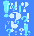 question and exclamation marks vector image