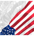 polygonal american flag waving in the wind vector image